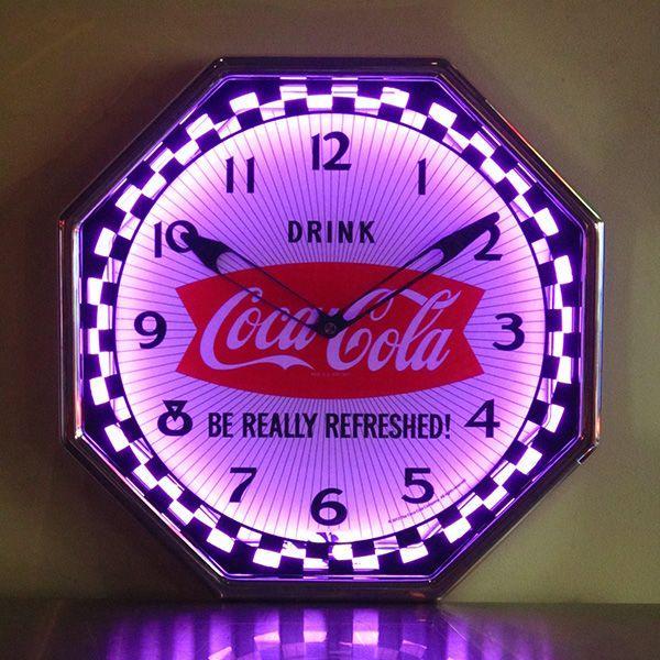 コカコーラ Coca-Cola 壁掛け時計/レトロネオンクロック PJC-R02 *送料無料 *代引不可 wappenstore 06