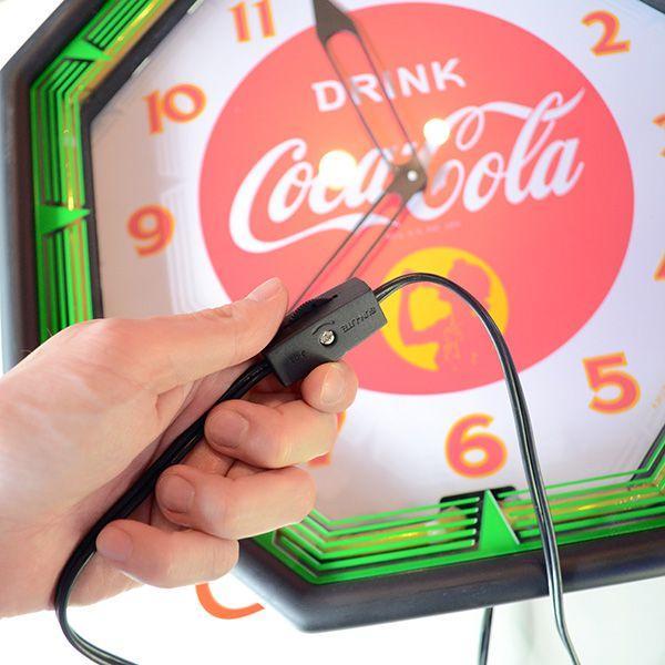 コカコーラ Coca-Cola 壁掛け時計/レトロネオンクロック PJC-R03 *送料無料 *代引不可|wappenstore|04