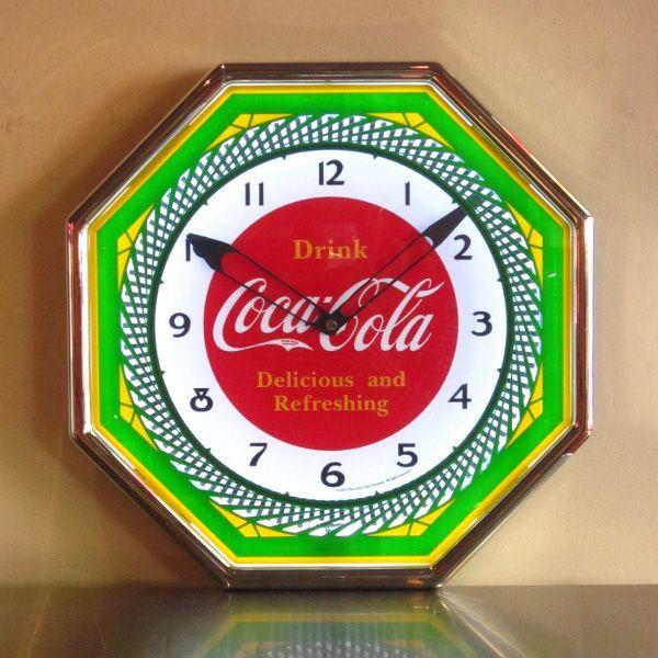 コカコーラ Coca-Cola 壁掛け時計/レトロネオンクロック PJC-R03 *送料無料 *代引不可|wappenstore|05