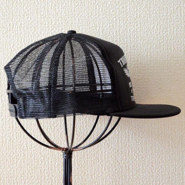 帽子/メッシュキャップ トラックブランド Tattoo(ブラック/フラットブリム) F6 [メール便不可] wappenstore 03