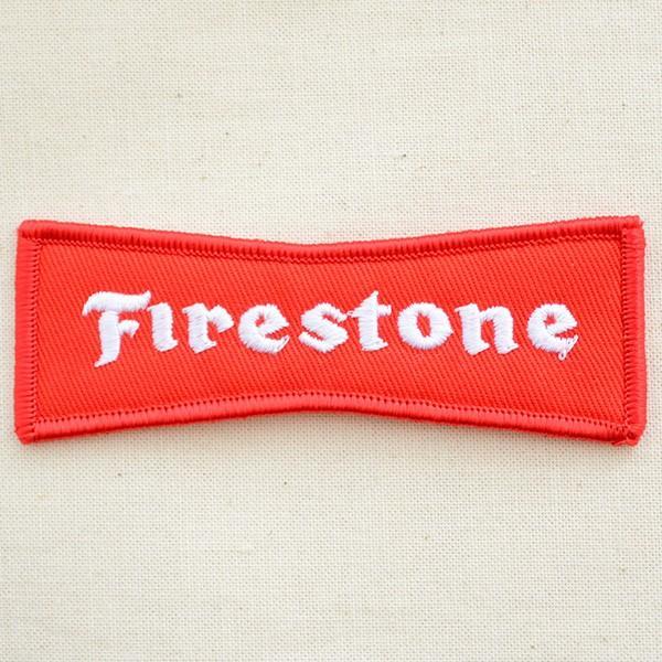 ロゴワッペン ファイアストン Firestone(レッド) タイヤ|wappenstore