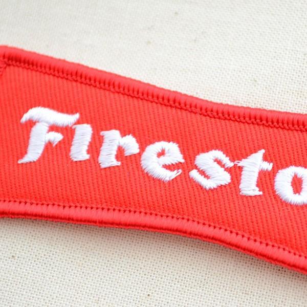 ロゴワッペン ファイアストン Firestone(レッド) タイヤ|wappenstore|02