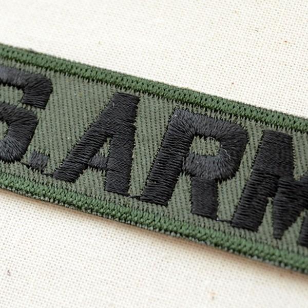 ミリタリーワッペン U.S.Army アーミー Tab アメリカ陸軍(OD/カーキ) WM0007|wappenstore|02