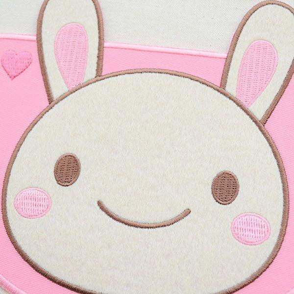 ポケット付ワッペン ルルルフレンズ(うさぎ/ピンク) XP1000-XP09 wappenstore 02