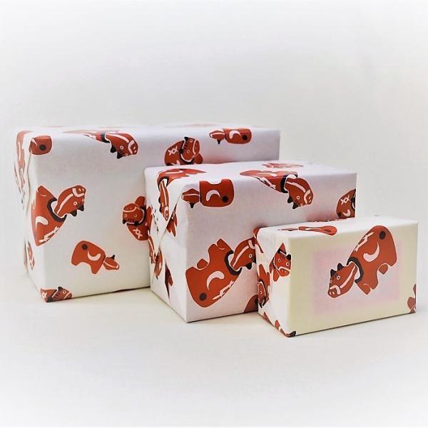 赤べこ(小)日本のお土産会津張子赤べこ 約 12.0×6.0×5.0(cm) warabi 03