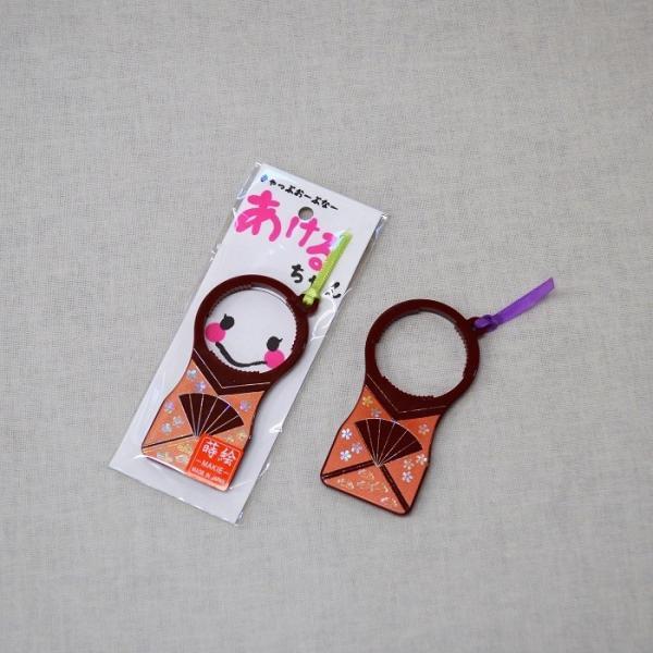 会津塗 あけるちゃん 唐草 黒(ペットボトルキャップ開け)|warabi|02