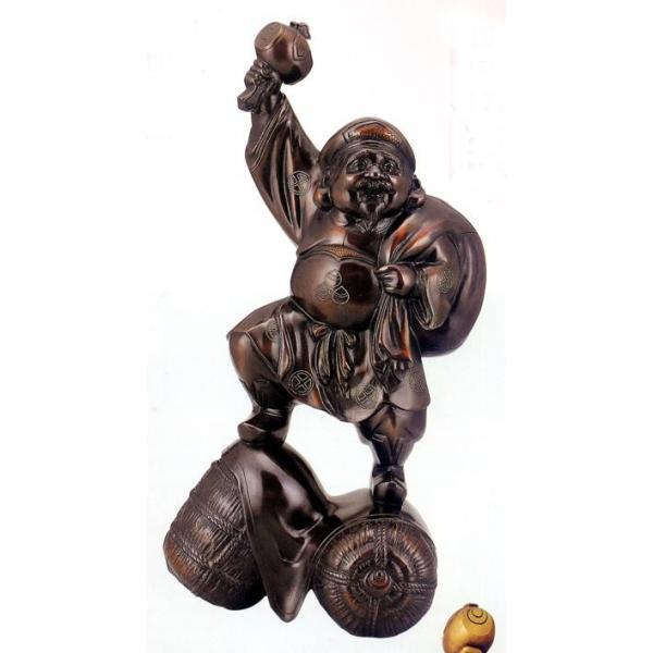 仏像 七福神| 17号 大黒 銀線入り |銅製【高岡銅器】d20-06