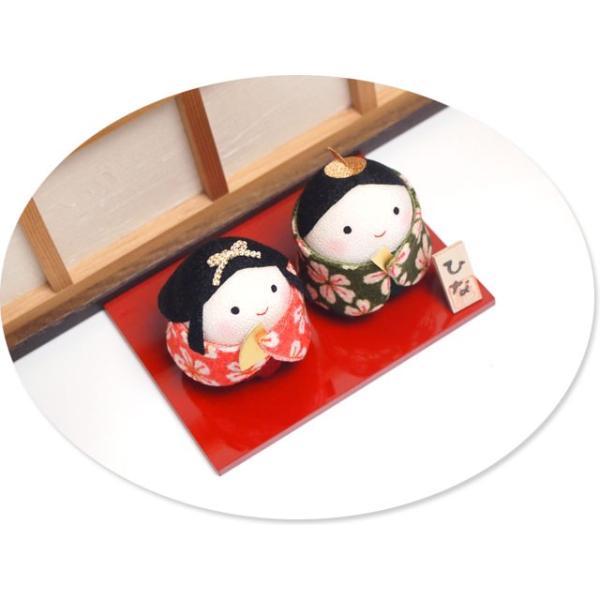 雛人形 ひな人形「ちりめん細工 おくるみおぼこ雛」rh312 コンパクト/リュウコドウ|wasai-kobo|03
