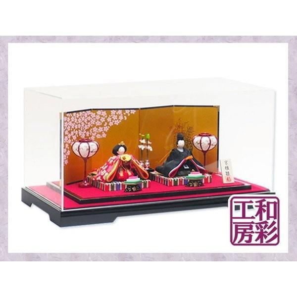 雛人形ケース飾り「友禅ちりめん夢雅雛 親王飾り」rhk151s|wasai-kobo