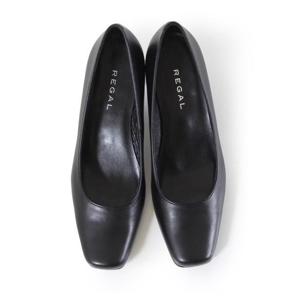 リーガル レディース 黒 パンプス ローヒール 靴 REGAL 6768 本革 リクルート 就活 就職活動 仕事 冠婚葬祭|washington|05