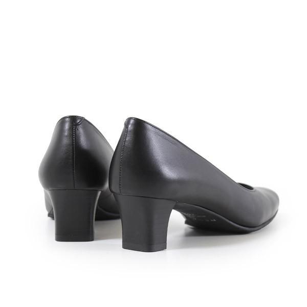 リーガル レディース 黒 パンプス ローヒール 靴 REGAL 6768 本革 リクルート 就活 就職活動 仕事 冠婚葬祭|washington|07