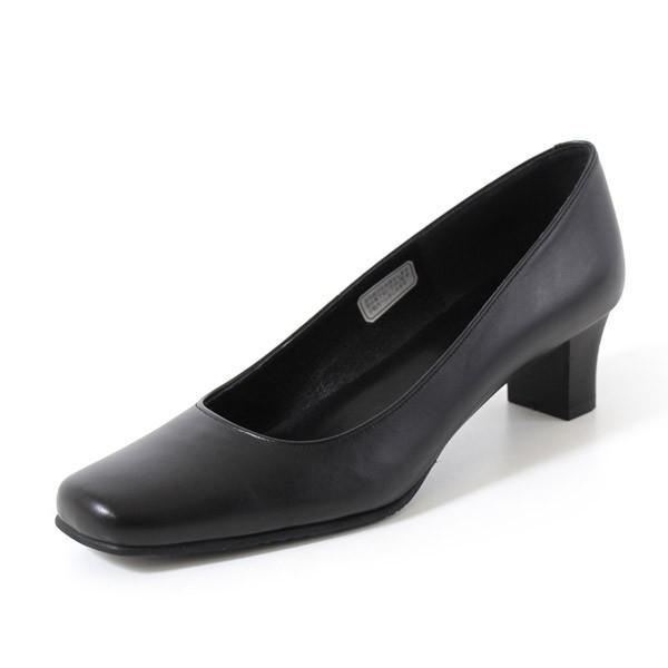 リーガル レディース 黒 パンプス ローヒール 靴 REGAL 6768 本革 リクルート 就活 就職活動 仕事 冠婚葬祭|washington|09