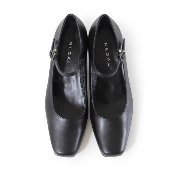 リーガル レディース 黒 パンプス ストラップ 靴 REGAL 6769 本革 リクルート 就活 就職活動 仕事 冠婚葬祭 washington 06