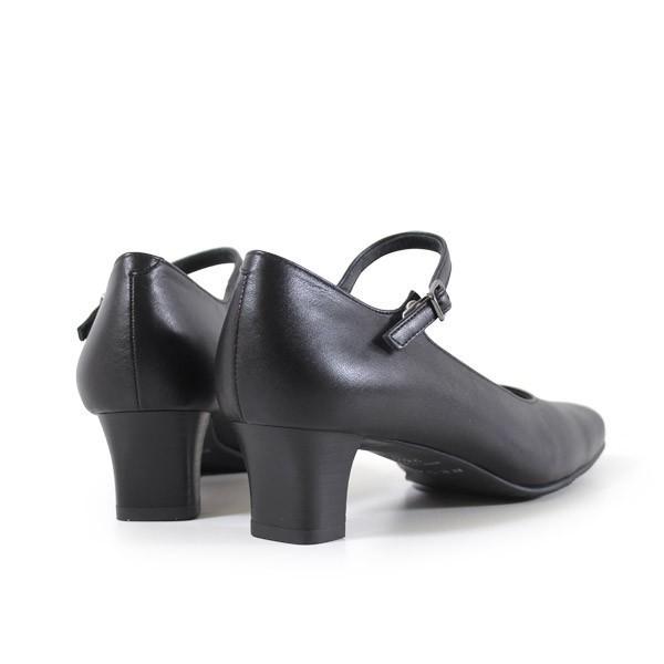 リーガル レディース 黒 パンプス ストラップ 靴 REGAL 6769 本革 リクルート 就活 就職活動 仕事 冠婚葬祭 washington 08