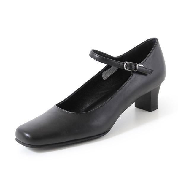 リーガル レディース 黒 パンプス ストラップ 靴 REGAL 6769 本革 リクルート 就活 就職活動 仕事 冠婚葬祭 washington 10