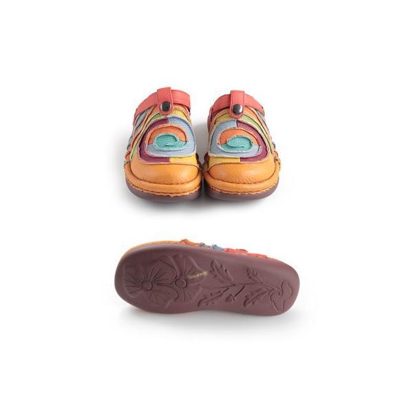 エスタシオン 靴 estacion TG034 (OR) 本革 厚底 コンフォート ミュール サンダル ぺたんこ レディース|washington|03