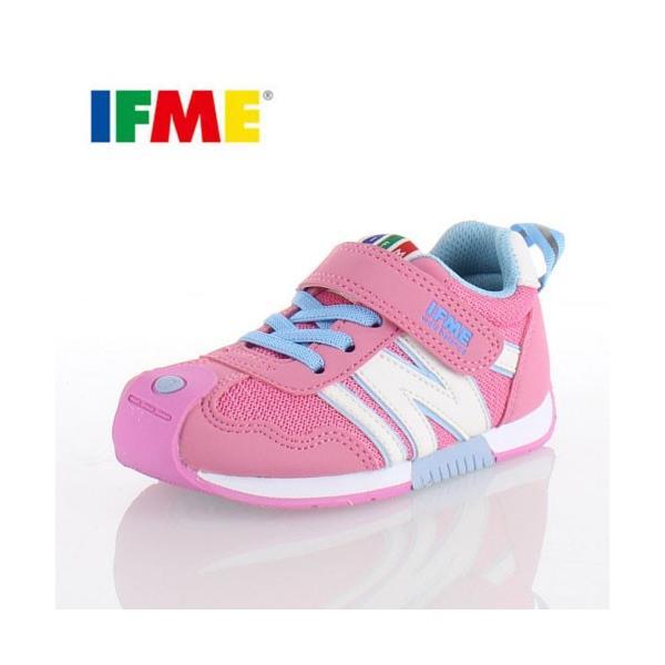 IFME KIDS イフミー キッズ シューズ 30-5710 ピンク スニーカー 通園 通学|washington