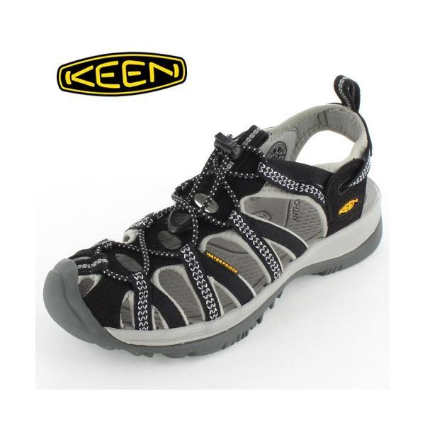 KEEN レディース サンダル WHISPER ウィスパー 1008448 BLACK/NEUTRAL GRAY washington