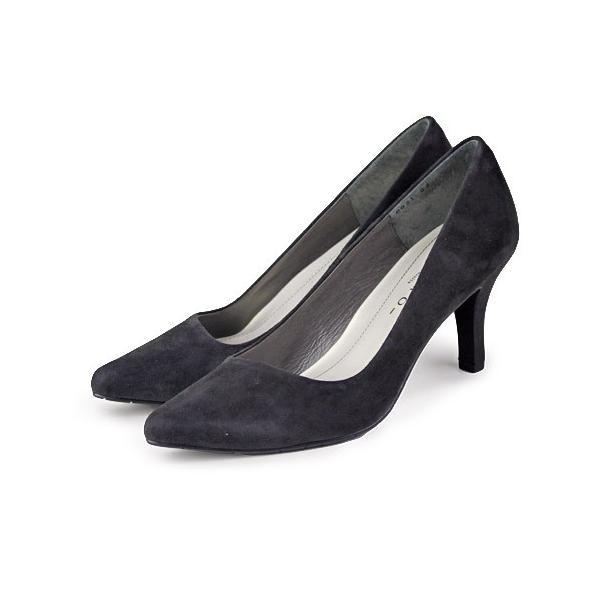 MELMO 靴 メルモ パンプス 6921 グレースエード ポインテッドトゥ ヒール 2E 抗菌 防臭|washington|02