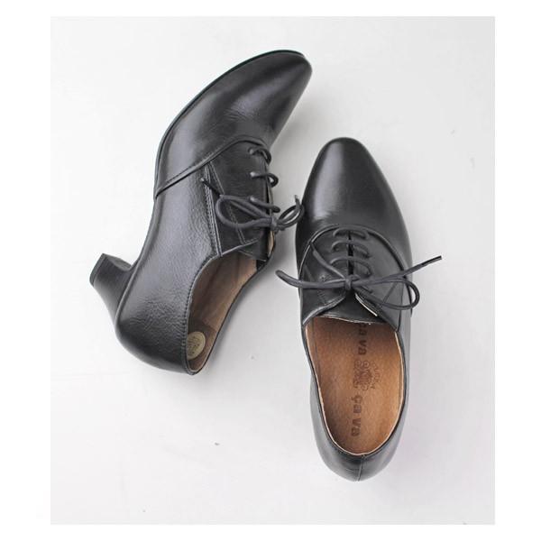 cavacava サヴァサヴァ 靴 ブーツ 3720045 オックスフォード ブーティ レディース レースアップ 本革 ローヒール 黒 ブラック セール|washington|04