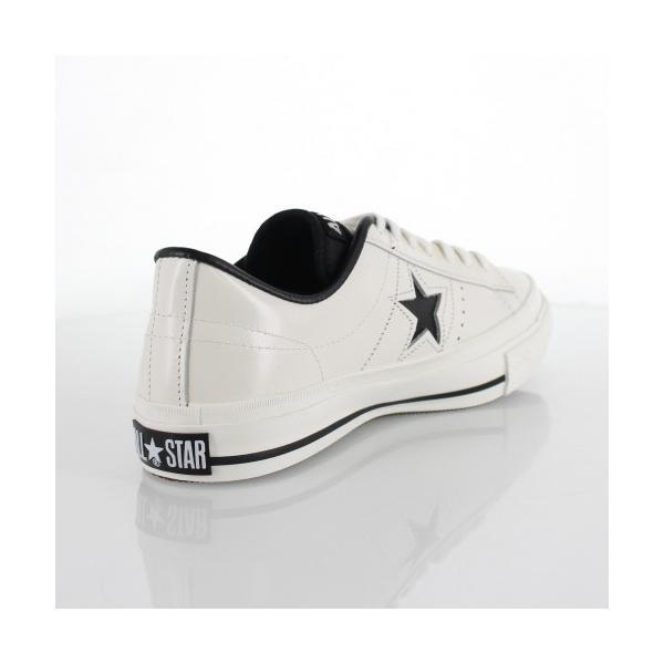 CONVERSE コンバース ONE STAR J ワンスター 46510 ホワイト/ブラック 白 黒 レディース スニーカー 靴|washington|03
