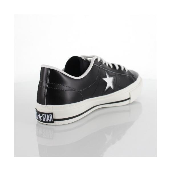 CONVERSE コンバース ONE STAR J ワンスター 46511 ブラック/ホワイト 黒 白 レディース スニーカー 靴|washington|03