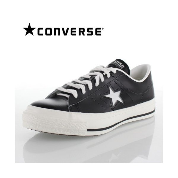 CONVERSE コンバース ONE STAR J ワンスター 46511 ブラック/ホワイト 黒 白 メンズ スニーカー 靴|washington