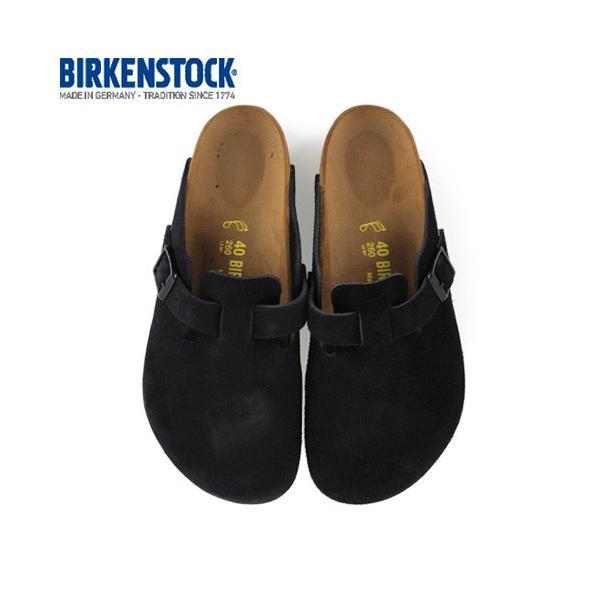 ビルケンシュトック BIRKENSTOCK ボストン BOSTON 0060493 レディース サボ クロッグ サンダル 靴 ブラック スエード