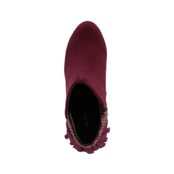 JELLY BEANS ジェリービーンズ 靴 2200 ブーツ ショート フリル ヒール スエード調 ワイン レッド レディース セール|washington|04
