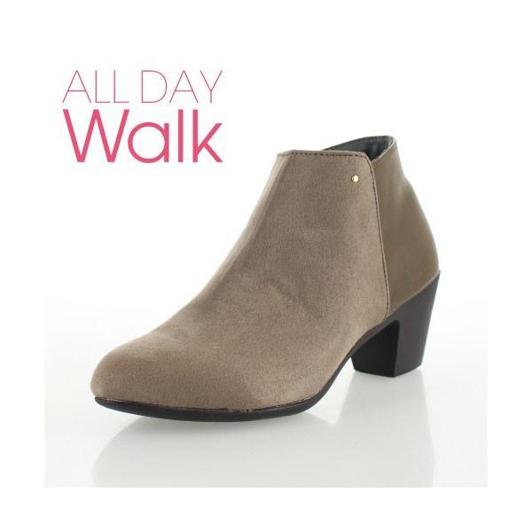 ALL DAY Walk オールデイウォーク 靴 00820 082 ショートブーツ あたたか 冬 2E 幅広 ヒールグレージュ レディース セール washington