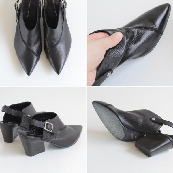 ラボキゴシ ワークス RABOKIGOSHI works 靴 12030D バックストラップ パンプス サンダル ミュール 本革 レディース 大きいサイズ セール