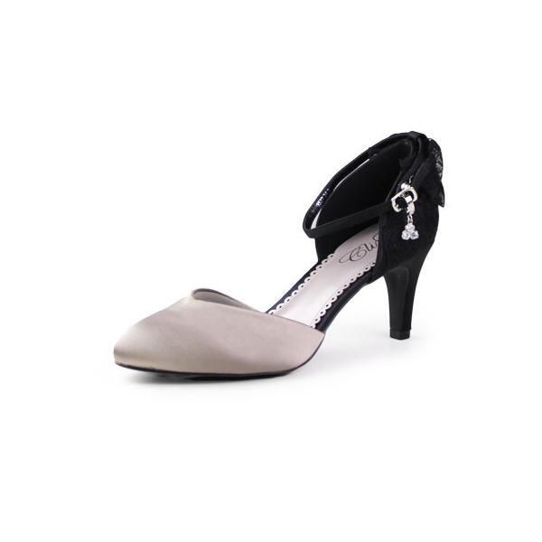 Climb クライム 結婚式 パンプス 靴 3527 バックリボン ハイヒール 2way アンクルストラップ レディース パーティ ベージュ 黒 ブラック|washington|07