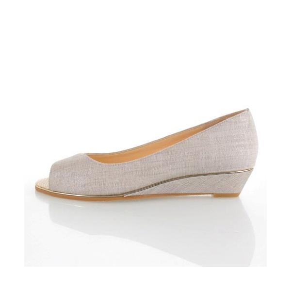 JELLY BEANS ジェリービーンズ 靴 9826 オープントゥ パンプス ローヒール ウェッジソール グレー レディース セール|washington|02