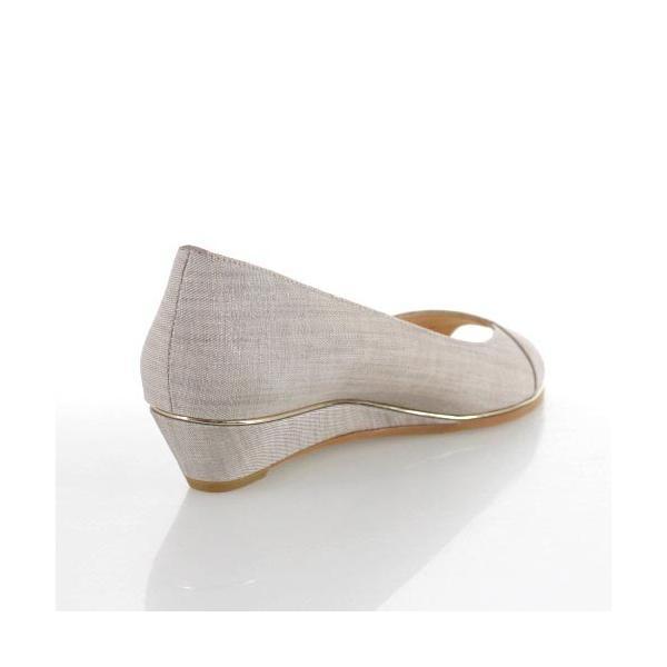 JELLY BEANS ジェリービーンズ 靴 9826 オープントゥ パンプス ローヒール ウェッジソール グレー レディース セール|washington|03