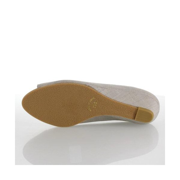JELLY BEANS ジェリービーンズ 靴 9826 オープントゥ パンプス ローヒール ウェッジソール グレー レディース セール|washington|05