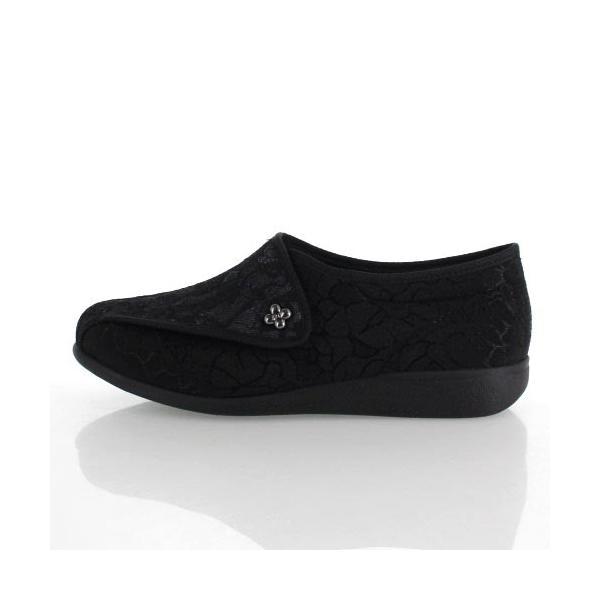 アサヒシューズ 快歩主義 靴 LO11 KS20545 シューズ 介護 介護シューズ 軽量 レース 日本製 3E 黒 ブラック レディース|washington|02