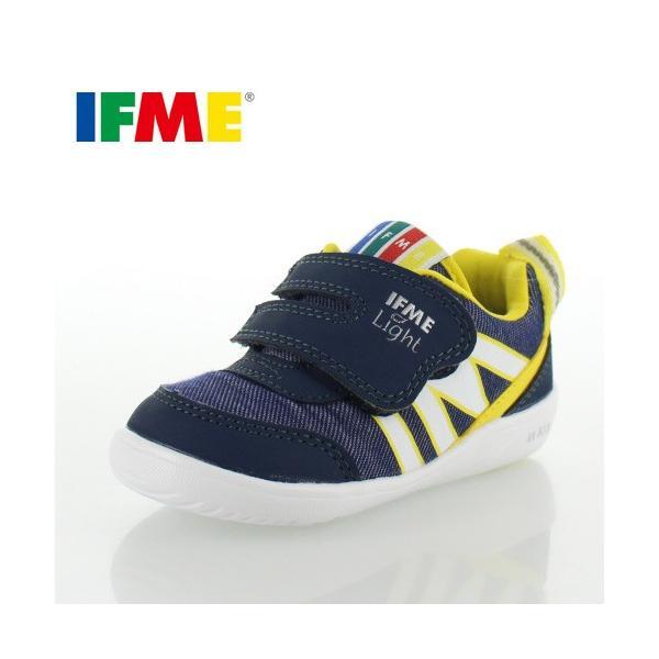 子供靴 スニーカー イフミー IFME Light ベビー キッズ シューズ 22-8001 NAVY 通園 通学 マジックテープ 運動靴 ネイビー|washington
