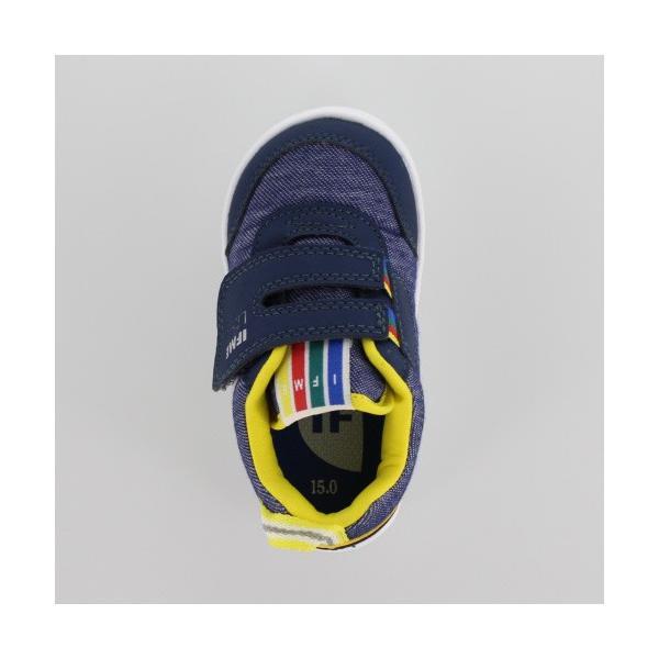子供靴 スニーカー イフミー IFME Light ベビー キッズ シューズ 22-8001 NAVY 通園 通学 マジックテープ 運動靴 ネイビー|washington|04