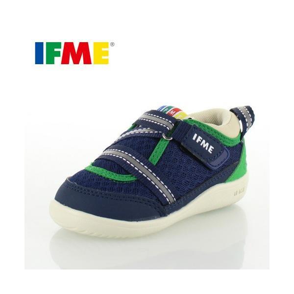 子供靴 スニーカー イフミー IFME Light ベビー キッズ シューズ 22-8000 NAVY 人気商品 定番 通園 通学 運動靴 ネイビー washington