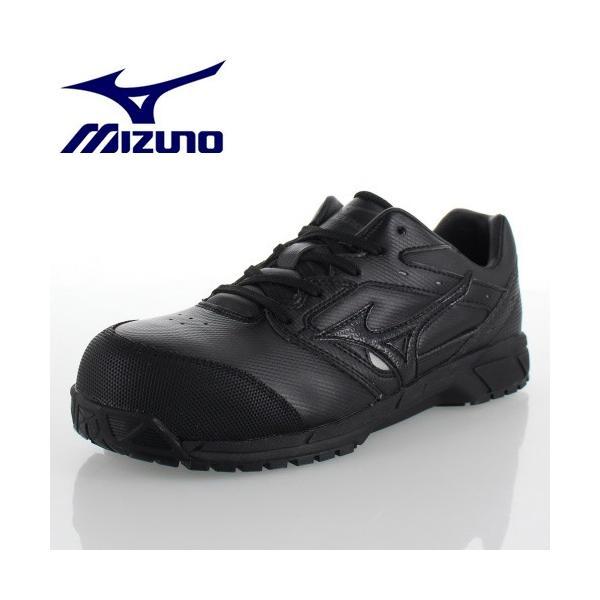 ミズノ 安全靴 MIZUNO オールマイティCS 紐タイプ C1GA171009 ブラック ワーキング スニーカー 作業靴 レディース 3E washington