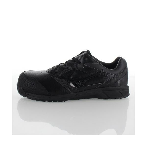 ミズノ 安全靴 MIZUNO オールマイティCS 紐タイプ C1GA171009 ブラック ワーキング スニーカー 作業靴 レディース 3E washington 02