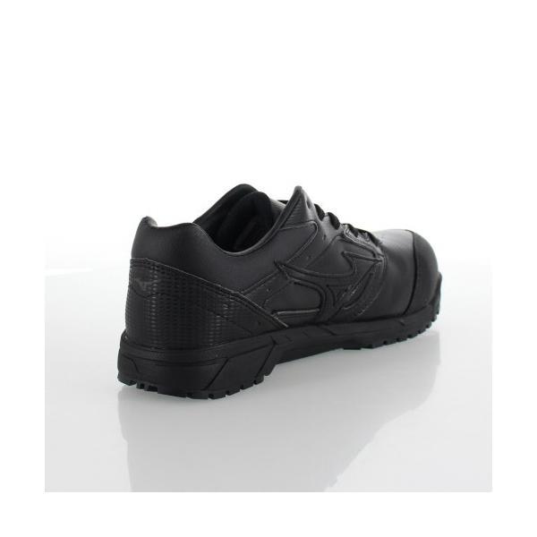ミズノ 安全靴 MIZUNO オールマイティCS 紐タイプ C1GA171009 ブラック ワーキング スニーカー 作業靴 レディース 3E washington 03