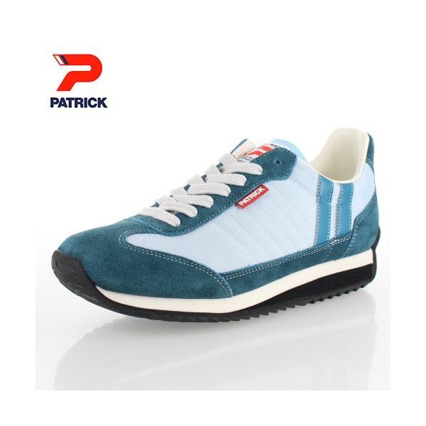 スニーカー レディース パトリック MARATHON 94006 PUDLE PATRICK マラソン パドル 日本製 ブルー