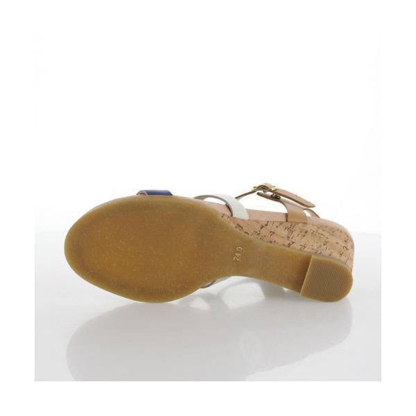 あしながおじさん 靴 2810161 サンダル ウェッジソール ボーンサンダル 本革 キャメル マルチカラー トレンド レディース セール|washington|05