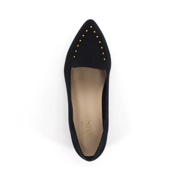 STYLE JELLY BEANS ジェリービーンズ 靴 1520 パンプス ローファーパンプス スタッズ ローヒール 鋲 黒 ブラック レディース セール