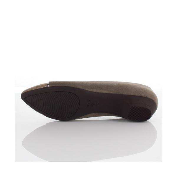 JELLY BEANS ジェリービーンズ 靴 7004 パンプス ぺたんこ フラット ローヒール コンビ 切り替え オーク ベージュ レディース セール