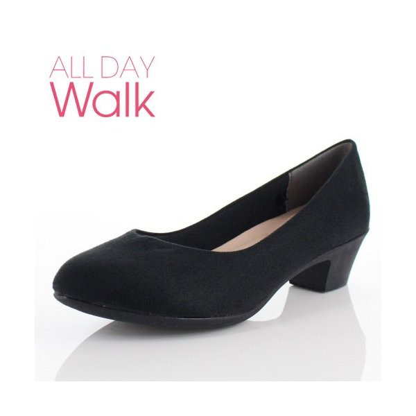 ALL DAY Walk オールデイウォーク 靴 ALD 2150 パンプス アーモンドトゥ ビジネス フォーマル リクルート 2E 黒 ブラック レディース セール|washington