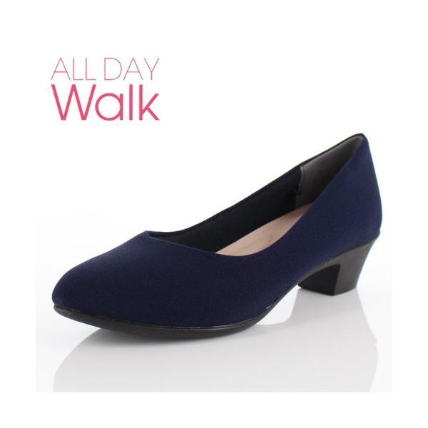 ALL DAY Walk オールデイウォーク 靴 ALD 2150 パンプス アーモンドトゥ ビジネス フォーマル リクルート 2E 紺 ネイビー レディース セール|washington
