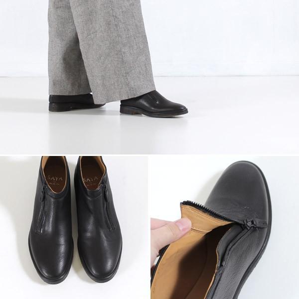 SAYA ブーツ サヤ ラボキゴシ 靴 50551 本革 ブーティ アンクルブーツ レディース 革靴 ファスナー付き セール|washington|03