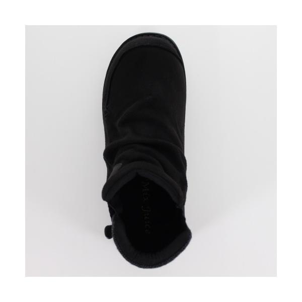 Mix Juice ミックスジュース 靴 9434 ブーツ ショートブーツ 撥水加工 サイドゴア 防滑 ローヒール ベロア調 ブラック 黒 レディース washington 04